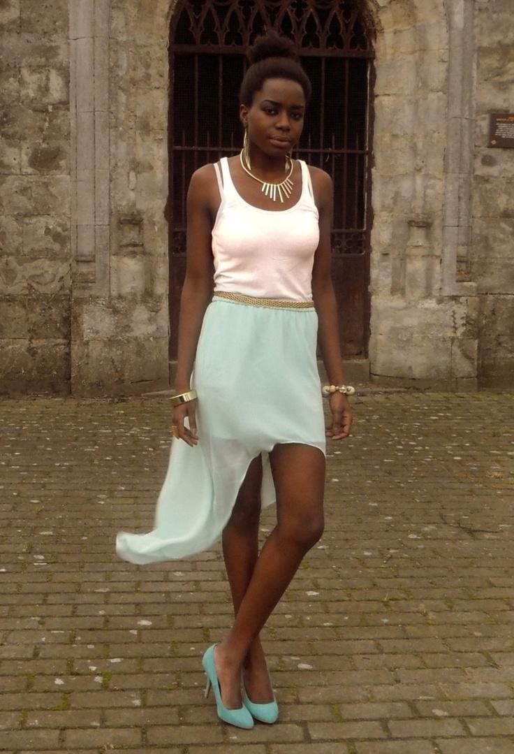 Warm it up  #outfit , H in Tanks, Zara in Skirts, Zara in Heels / Wedges