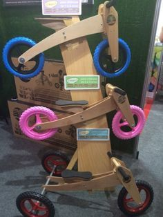 Que tal uma bicicleta sem pedal pra criança aprender a se equilibrar? Estou louca pra ter uma em casa!
