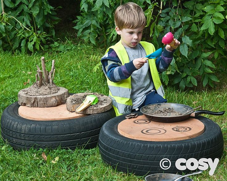TYRE MUD PIE KITCHEN TOPS (2PK) - Loose Parts - Early Years - Cosy Direct