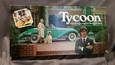 Vintage 1981 Tycoon Rags to Riches Board Game Wattson Games COMPLETE and UNUSED