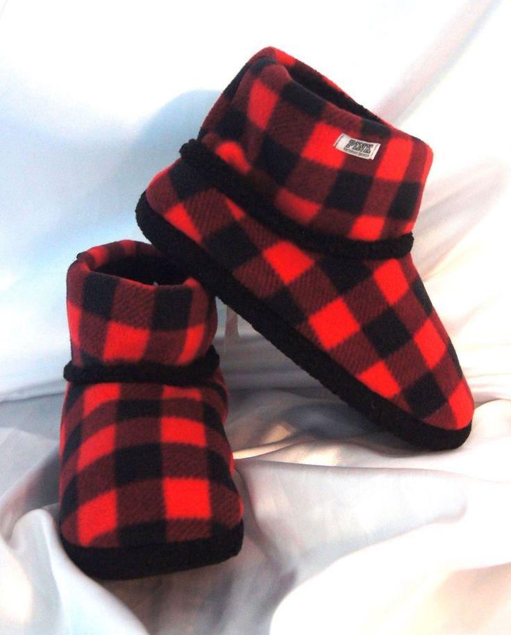 S M L Victorias Secret Pink Bootie Slippers Red Black Plaid Warm