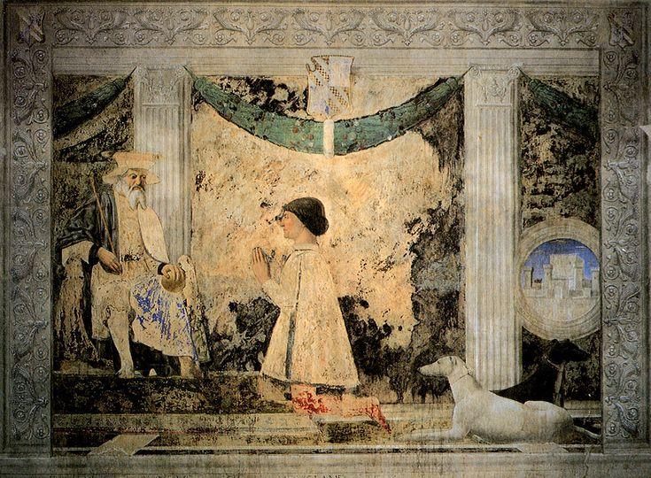 Piero, Sigismondo Pandolfo Malatesta before Saint Sigismund 01 - Piero della…