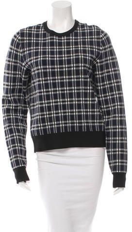 A.L.C. Plaid Crew Neck Sweater