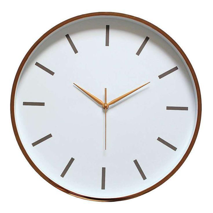 Copper Metallic Wall Clock Dunelm Copper Rose Room
