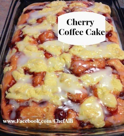 Chef Alli Cherry Coffee Cake