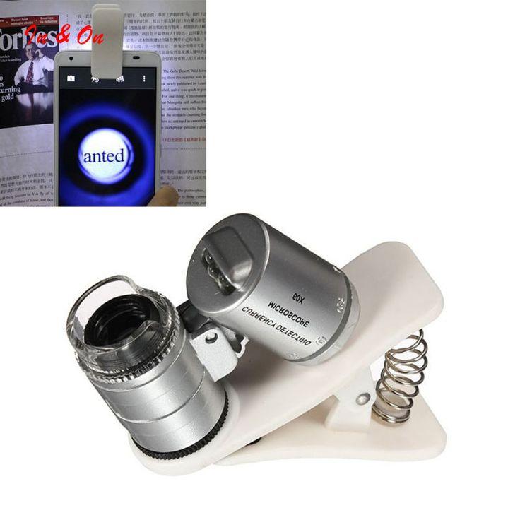 العالمي 60x زووم بصري كليب عدسة الهاتف المحمول عدسة التلسكوب مجهر الكاميرا