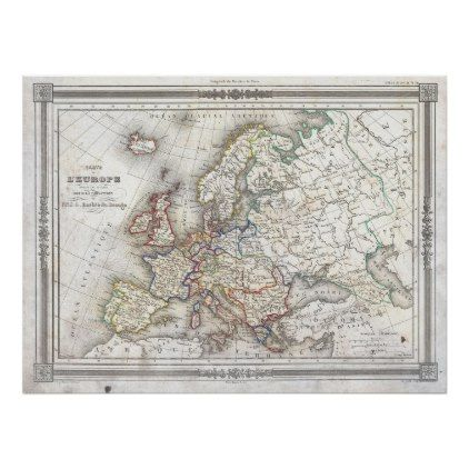 Map Of Europe Poster In 2018 Decor Gifts Pinterest European
