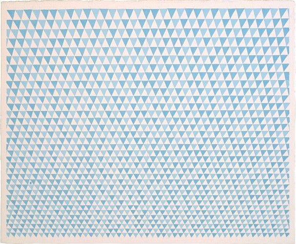 Sara Eichner, blue flags 2014, gouache on watercolor paper, 14 x 17 inches