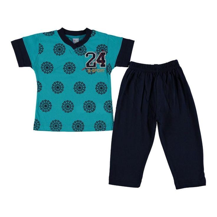 Пижама для мальчиков зеленая Babexi