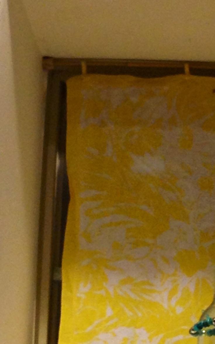Bamboo curtain rods diy - Bamboo Rid Up Cycled Scarf Wine Cork Cut In Half Diy