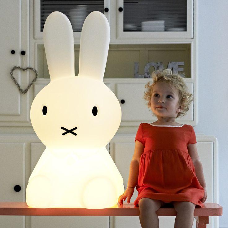 MIFFY XL Lampe de sol lapin blanc H80cm | Luminaire enfants Mr Maria designé par Mr Maria port offert