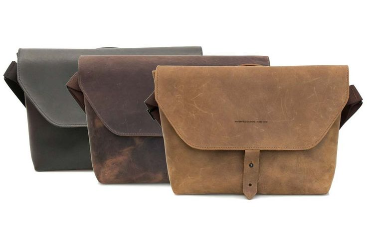 Maverick leather laptop messenger: Premium full-grain leather in Black, Chocolate, and Grizzly   Made in USA   https://www.sfbags.com/products/maverick-leather-laptop-messenger-bag