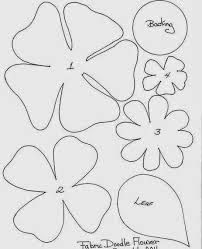 Resultado de imagen para adornos con moldes de flores