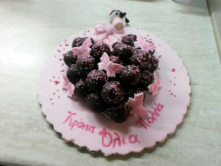 Olias birtday cake pops!!!