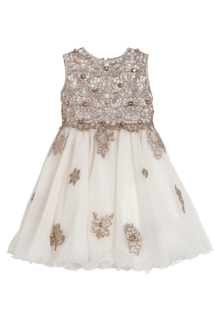 Luxury dress with sequins body and diamonds