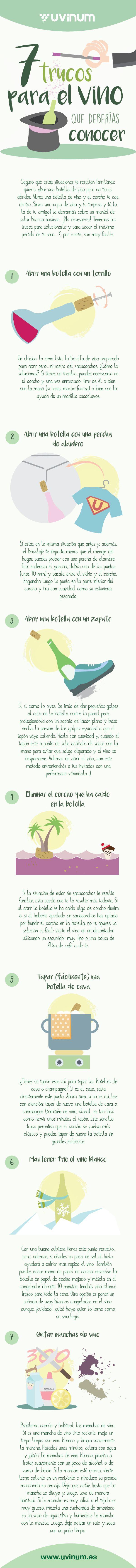 Buenos tips (lo ideal es siempre llevar un sacacorchos)