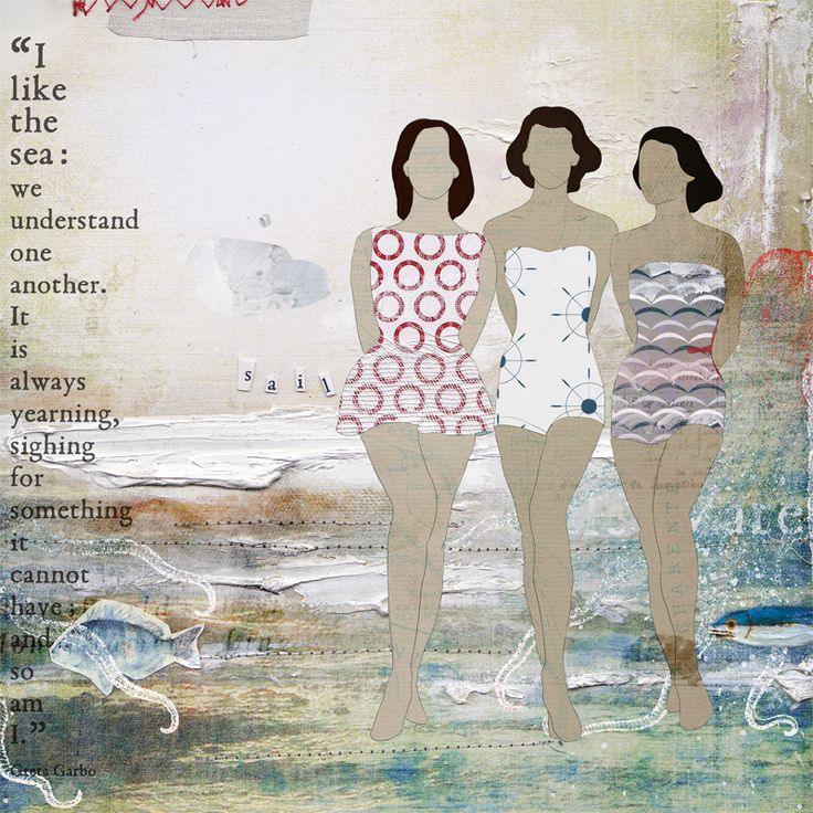 Mixed Media - Bathing Beauties