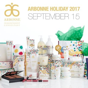 Arbonne Holiday 2017.....Starts September 15th !!! http://luzmariaheredia.arbonne.com