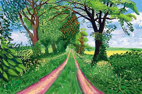 David Hockney: Late Spring Tunnel, May 2006