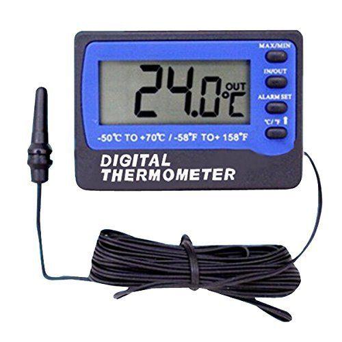 Thermometre – VICI TM803 Thermometre pour Frigo Refrigerateur Congelateur Alarme Digital metre de Temperature: Grand ecran pour le capteur…
