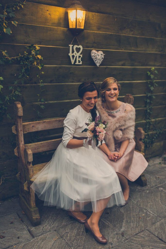 Lesbian couple wedding portrait