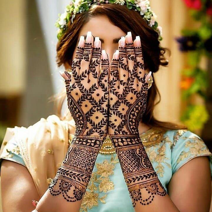 Leafy Mehendi design    #wedding #bride #bridesmaids #mehendi #mehendidesign