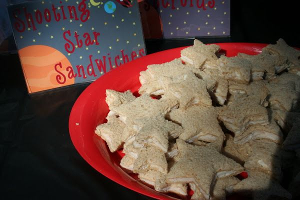 Shooting Star Sandwiches #hottub #stargazing #party #kids | Space ...