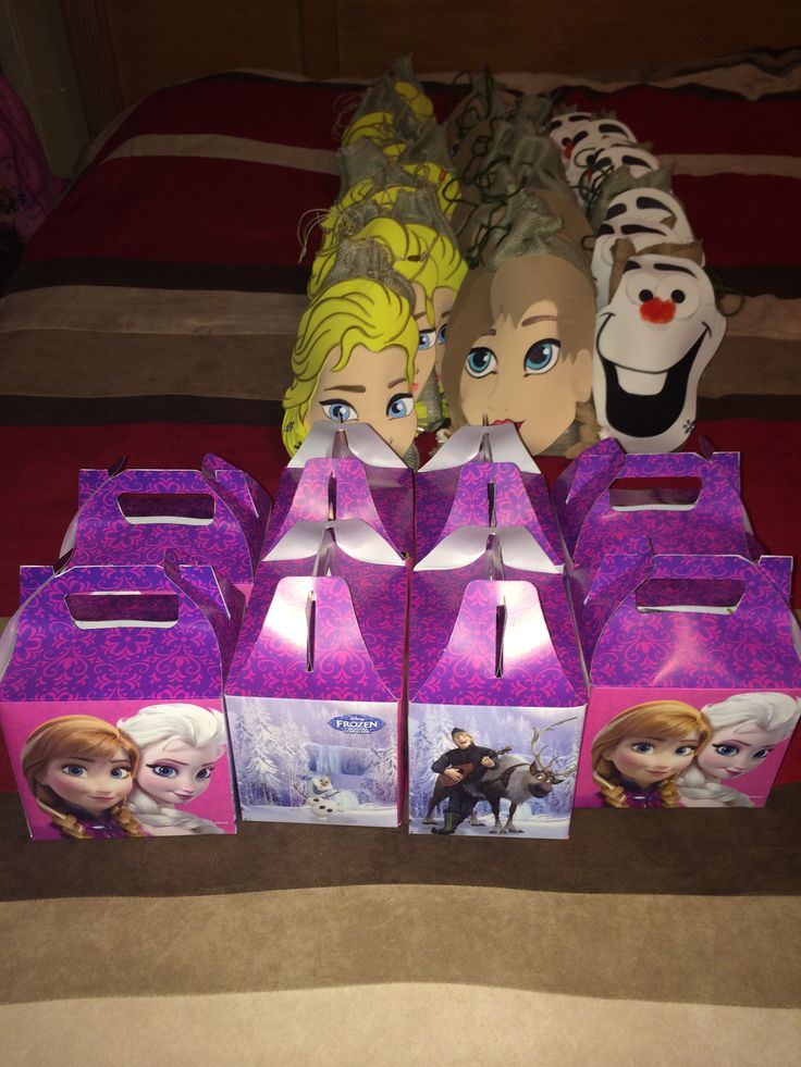 Handmade Frozen Candy Bags & Candy Boxes