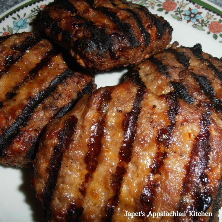 Grilled BBQ Meatloaf Burgers