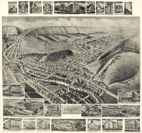 Historic Map – Everett, PA - 1905. www.worldmapsonline.com