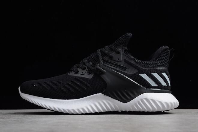 Men s adidas AlphaBounce Beyond 2 Black White Shoes Free Shipping ... ad6574d87