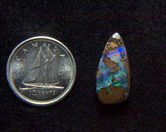Beautiful 5.88CT Australia polished boulder opal cabochon