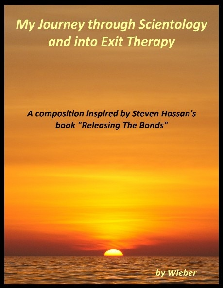Scientology Exit Counseling & Therapy Memoirs - http://www.scribd.com/collections/2734288/Scientology-Exit-Counseling-Therapy-Memoirs     Follow the link for a collection of first hand accounts of former church of Scientology members who undergo various forms of therapy related to cult recovery and exit counseling.