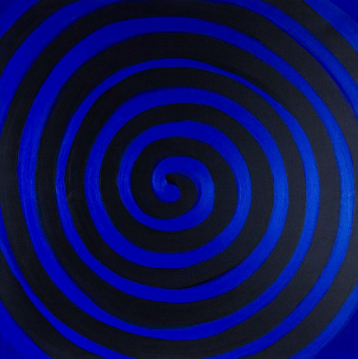Terry Frost (British, 1915-2003), Cobalt + Black Spiral, 2003. Acrylic on canvas, 42 x 42 in.
