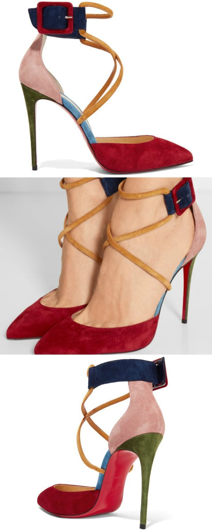 Christian Louboutin | Suzanna 100 color-block suede pumps