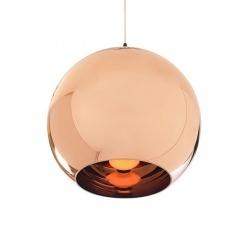 Copper shade lamp