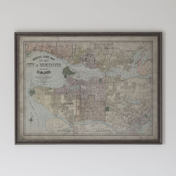 Map Of Oregon State Fairgrounds%0A Vancouver Map  Vintage City Map of Vancouver  Canada  Circa   th C