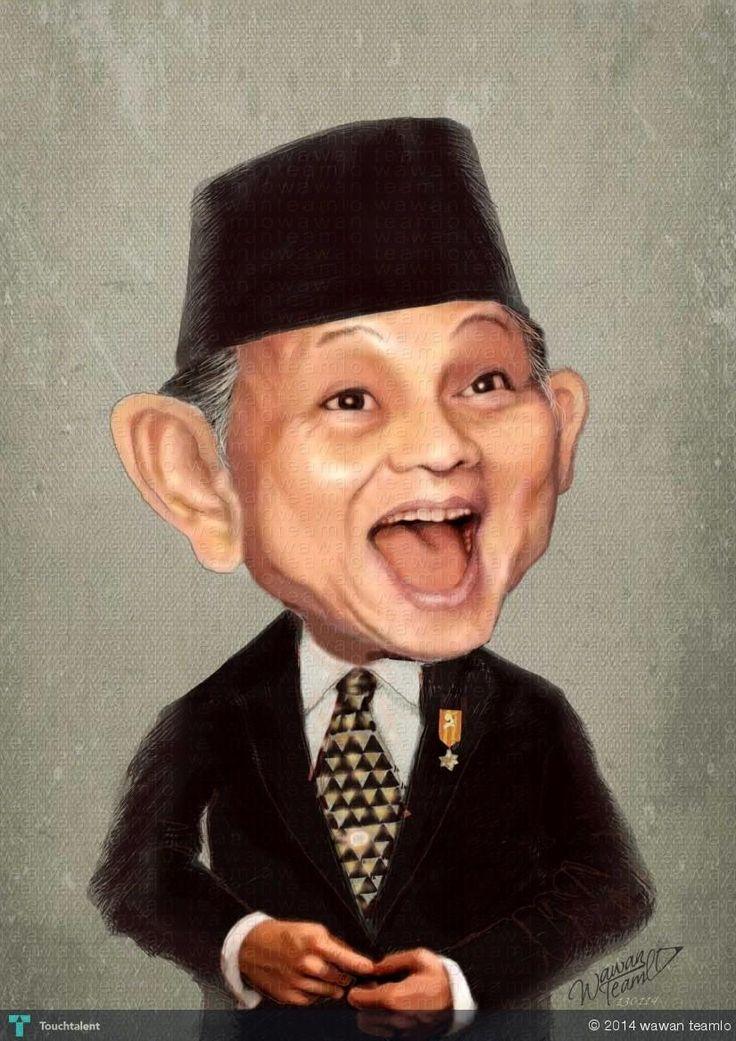 HABIBIE -  Indonesia President 3rd #Creative #Art #DigitalArt @Touchtalent.com