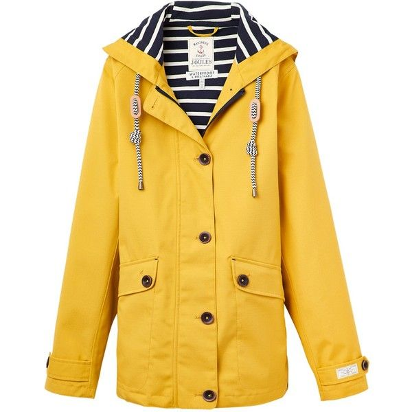 Joules Right as Rain Coast Waterproof Jacket, Antique Gold ($115) ❤ liked on Polyvore featuring outerwear, jackets, coats, antique gold, joules jacket, water resistant jacket, jersey jacket, pocket jacket and waterproof jacket