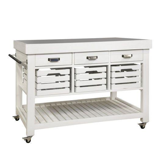 Isola cucina hudson con piano in marmo tre cassetti tre - Piano marmo cucina ...