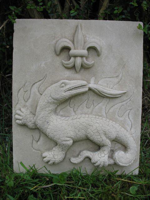 sculpture pierre de taille salamandre françois 1er : Sculptures, gravures, statues par packman