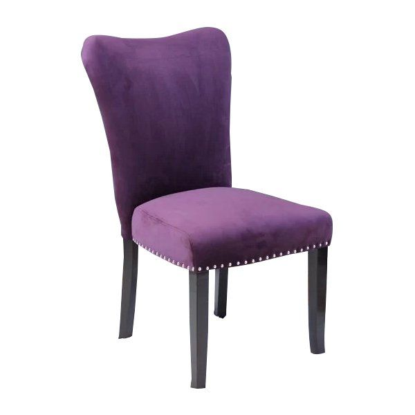 Kaat Velvet Upholstered Dining Chair Dining Chairs Purple Dining Chairs Dining Chair Upholstery
