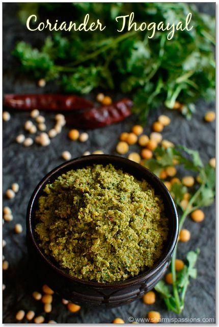 Coriander Thogayal Recipe