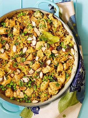 Easy Chicken Biryani: This classic multi-spice Indian dish is often served on holidays. Our simplified version makes a great weeknight meal.