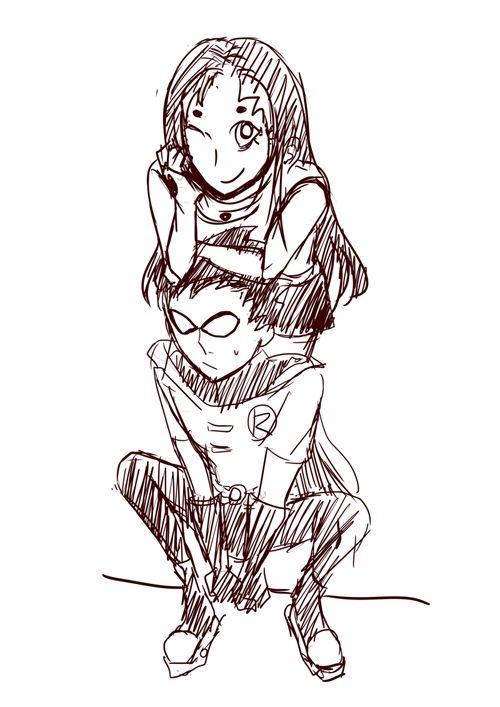 Robin x Starfire — starrfiiire: x