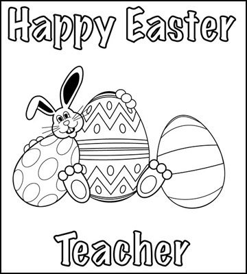 easter coloring pages for teachers - photo#42