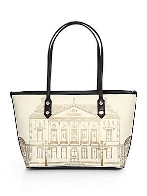 Love Moschino Small Borsa Manici Building Printed Tote