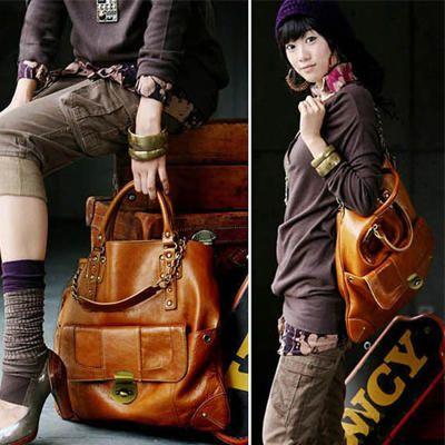 2013 New Fashion Women's PU Leather Handbag Korean style Casual Hobo Lady Shoulder bag Tote Purses Free Shipping