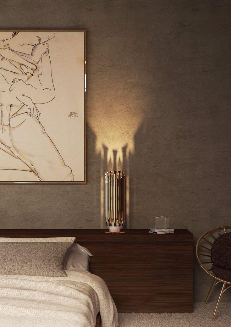 Mid-century table lamp for the modern master bedroom | www.masterbedroomideas.eu #bedrooms #bedroomideas #modernbedroom #nightstands #modernnightstands #nightstandsideas #bedsidetables