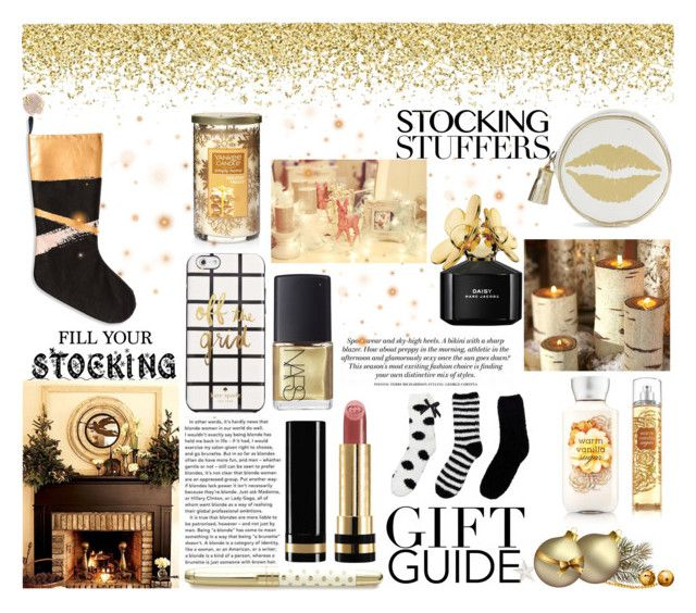 """""""Gift Guide: Stocking Stuffers"""" by cydney91 ❤ liked on Polyvore featuring Rosanna, Kate Spade, Marc Jacobs, Gucci, NARS Cosmetics, Betsey Johnson, Dabney Lee and Yankee Candle"""